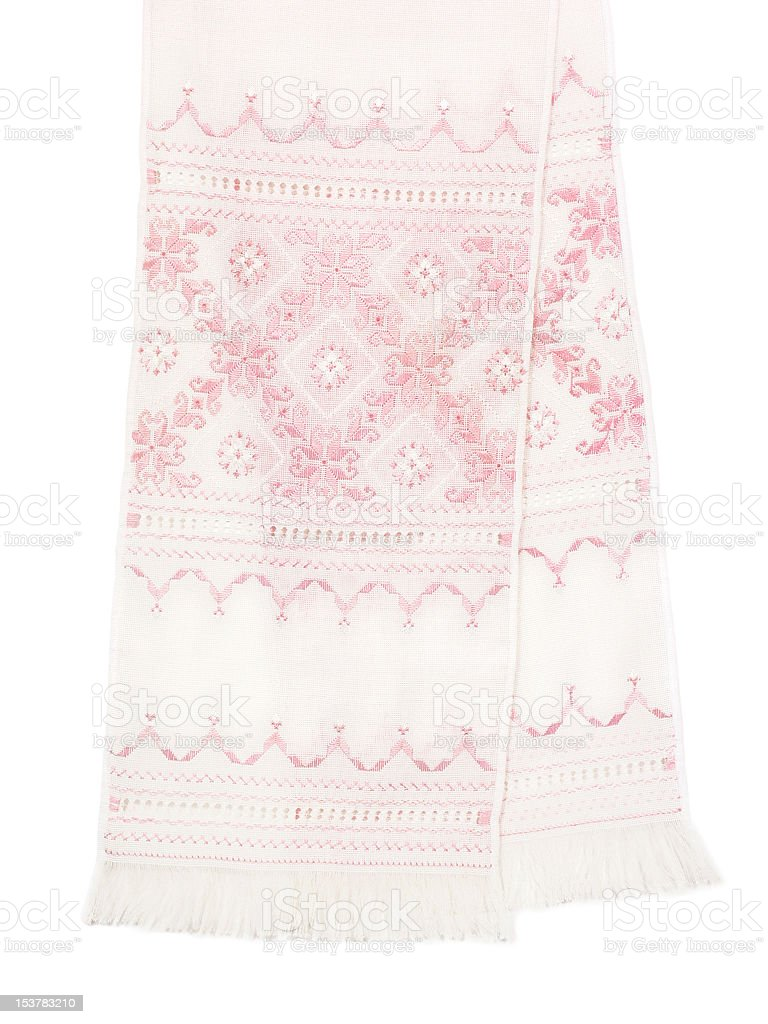 Embroidered towel royalty-free stock photo