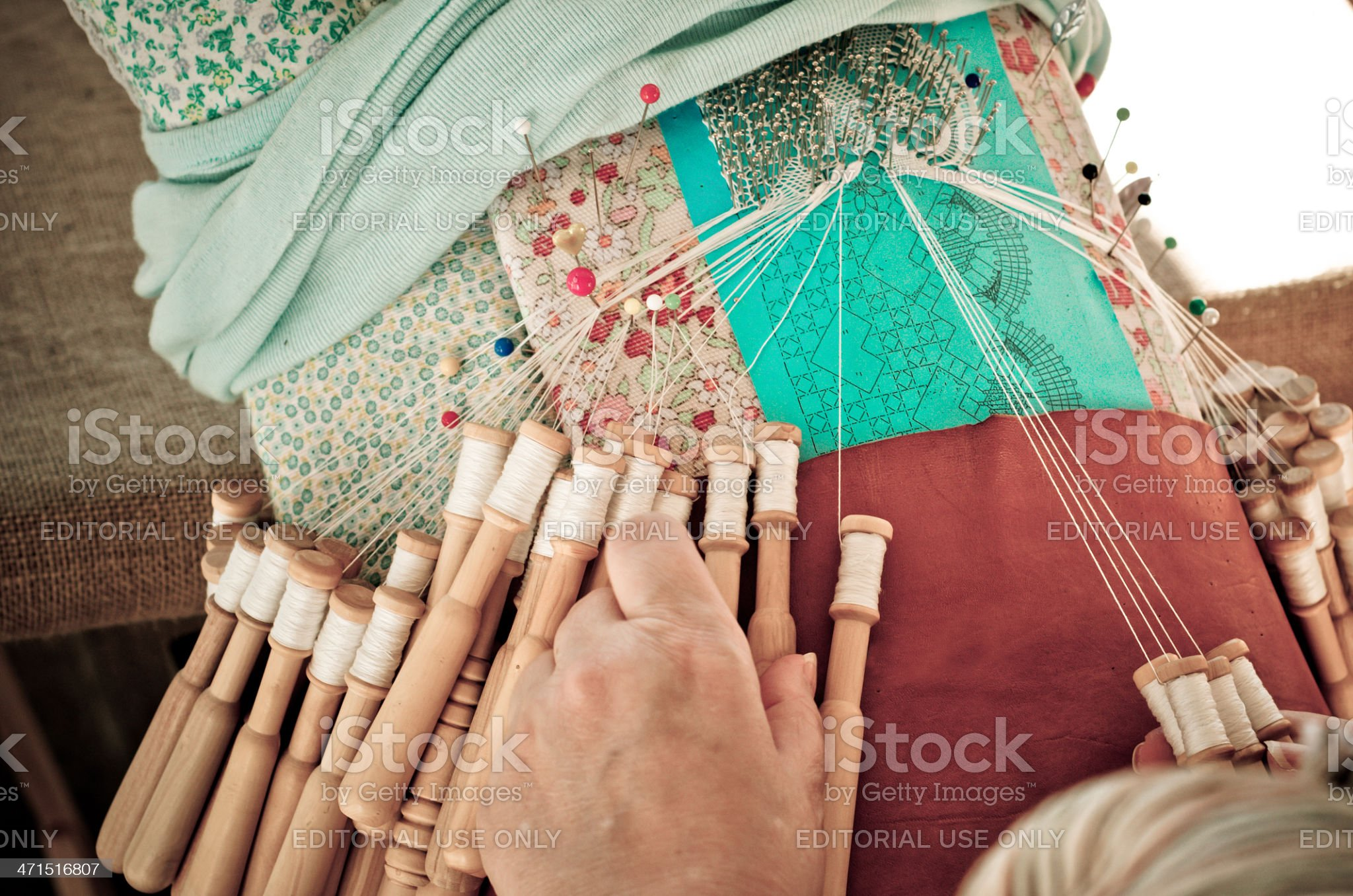 Embroiderer royalty-free stock photo