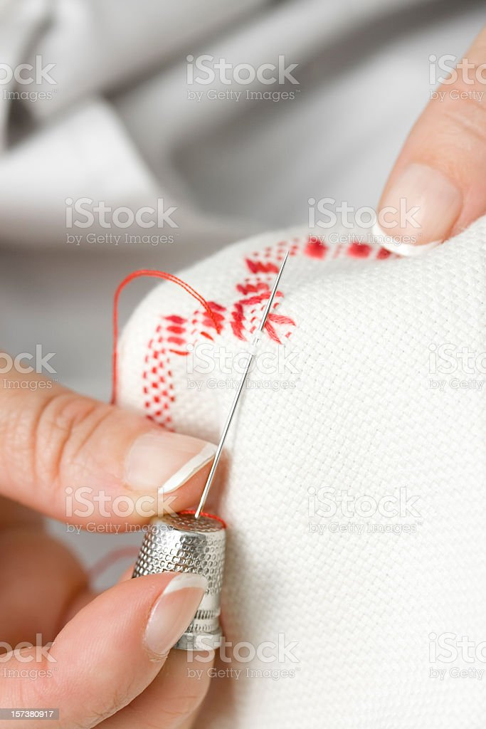 Embroidering royalty-free stock photo