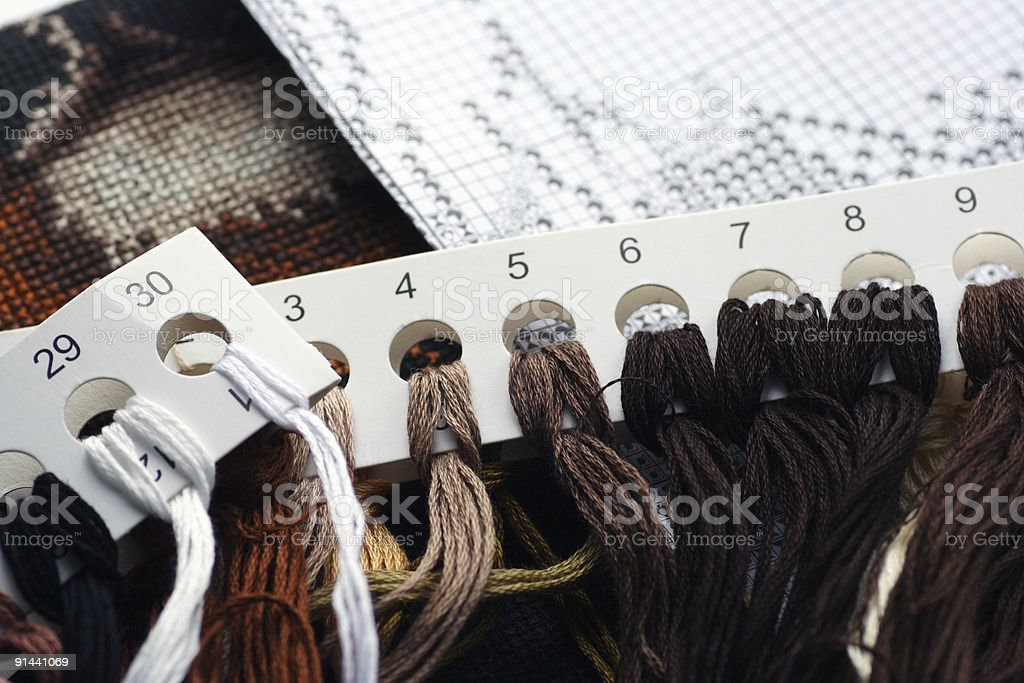 Embroidery (cross stitch) #2 royalty-free stock photo
