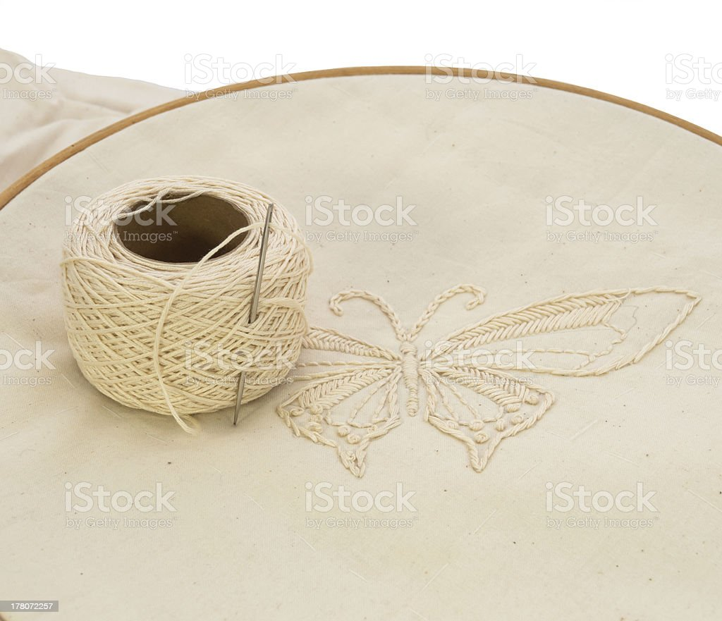 Embroidery candlewicking royalty-free stock photo