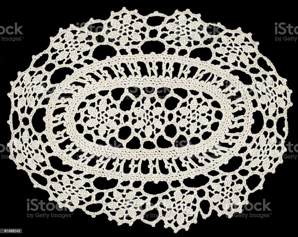 Embroidery Doily square ornament royalty-free stock photo