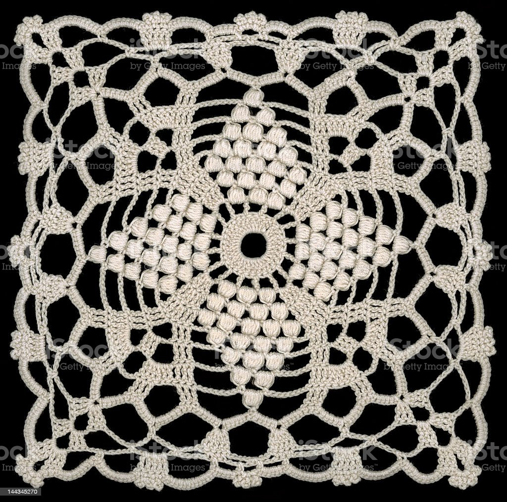 Embroidery Doily square royalty-free stock photo