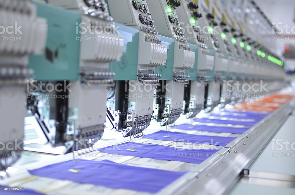Embroidery equipment stock photo