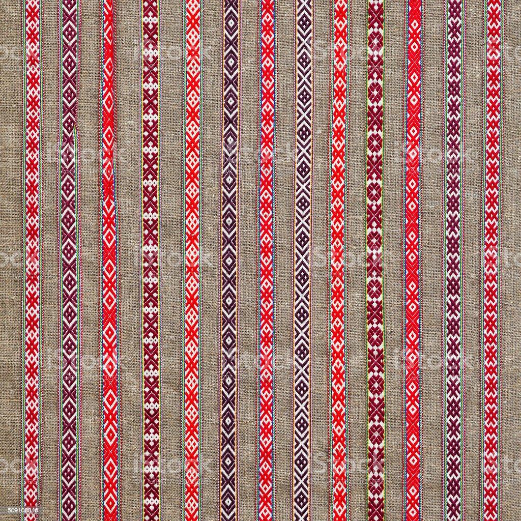 Embroidery ethnic stock photo
