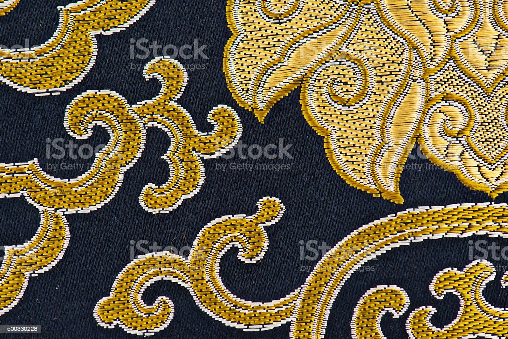 Embroidery Fabric Textile Detail stock photo