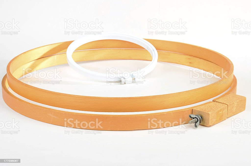 Embroidery Hoops royalty-free stock photo