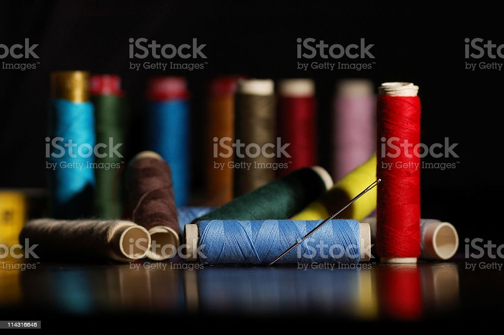 Embroidery Materials stock photo