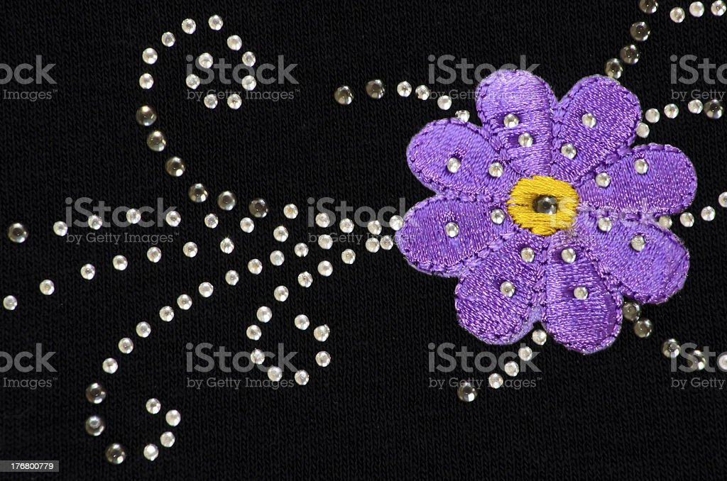 Embroidery Purple Flower royalty-free stock photo