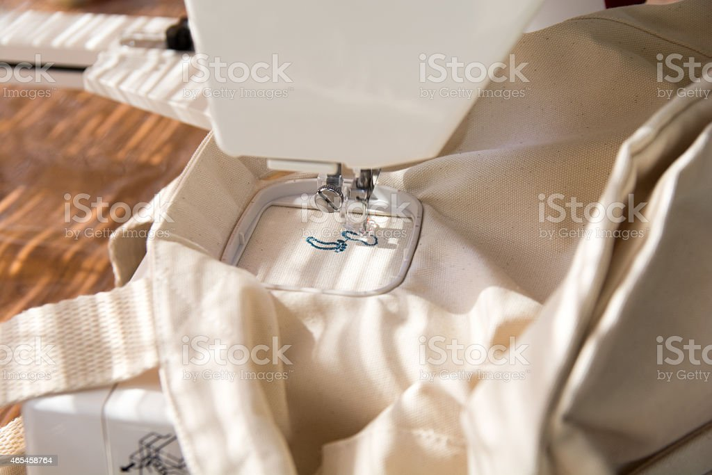 Embroidery sewing machine royalty-free stock photo