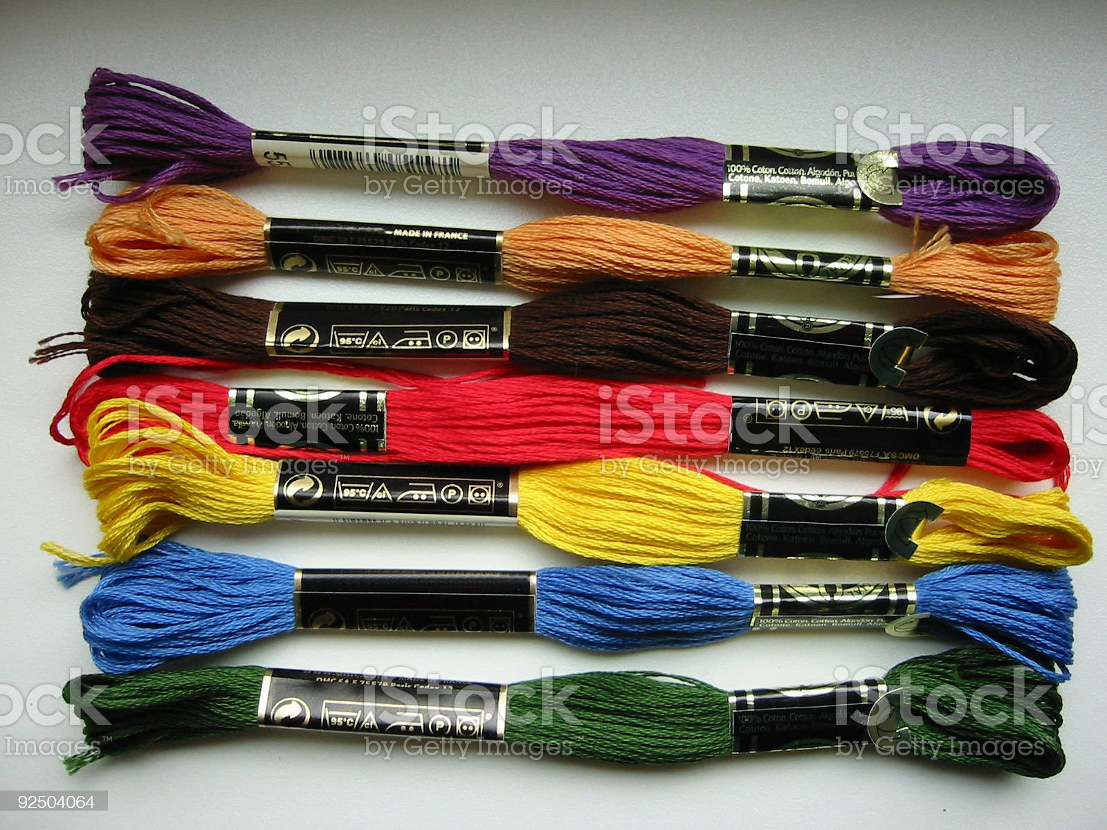 embroidery silk royalty-free stock photo