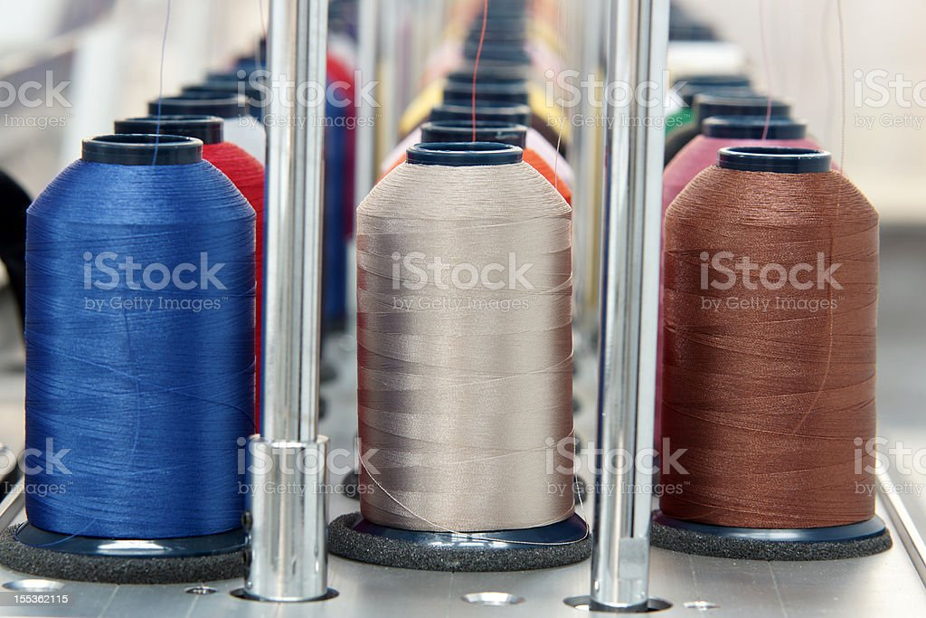 Embroidery thread stock photo