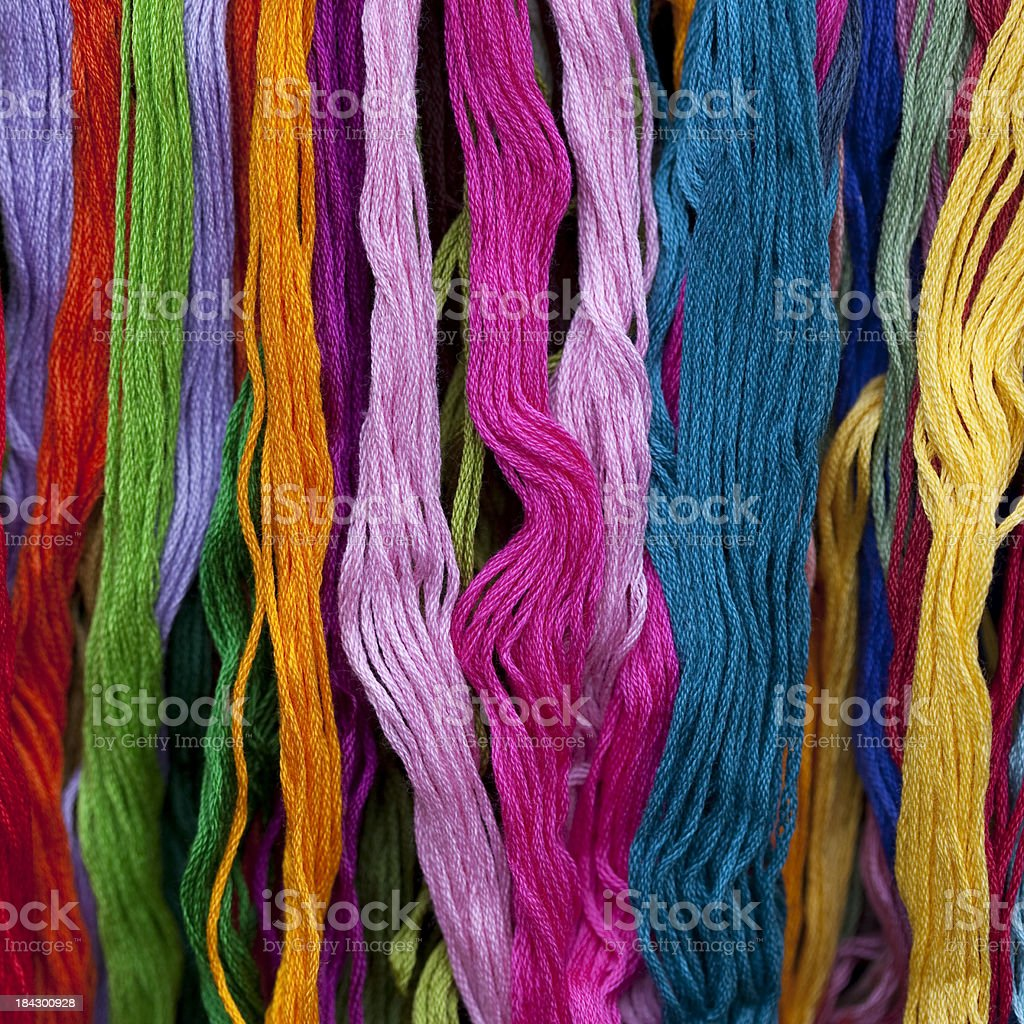 Embroidery Thread royalty-free stock photo