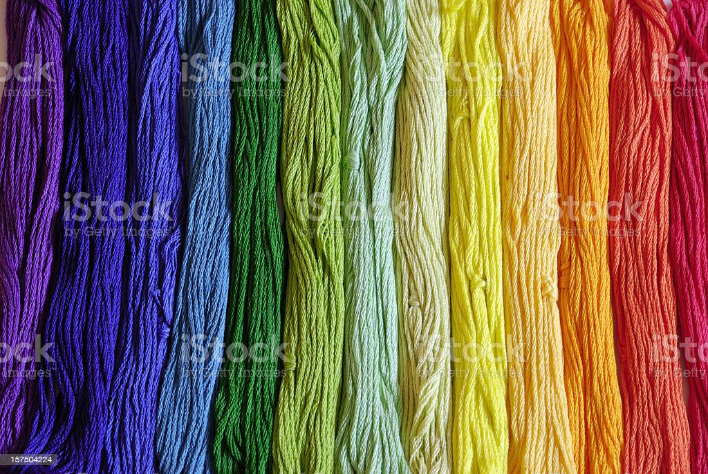 embroidery yarn royalty-free stock photo