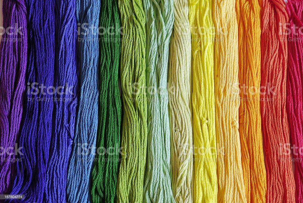 embroidery yarn stock photo