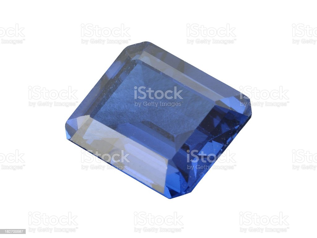 Emeral Cut Sapphire royalty-free stock photo