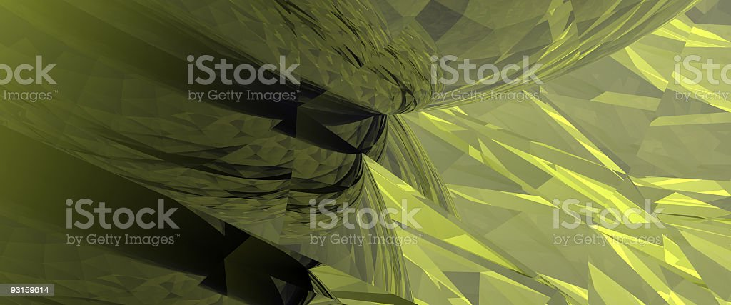 Emerald Abstracts 2 of 3 royalty-free stock photo