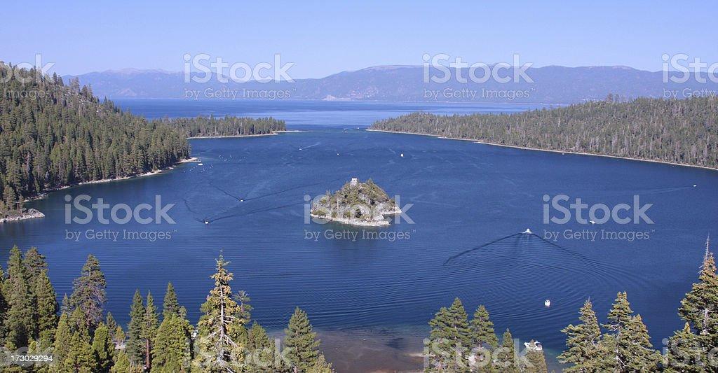 Emerald bay at Lake Tahoe California royalty-free stock photo