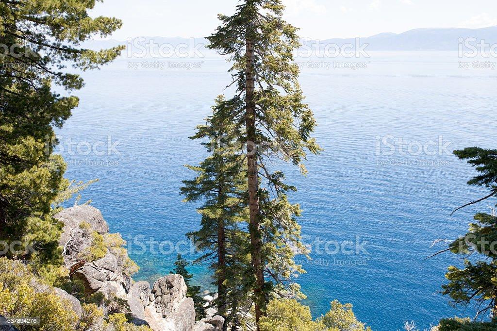 Emerald Bay at Lake Tahoe stock photo