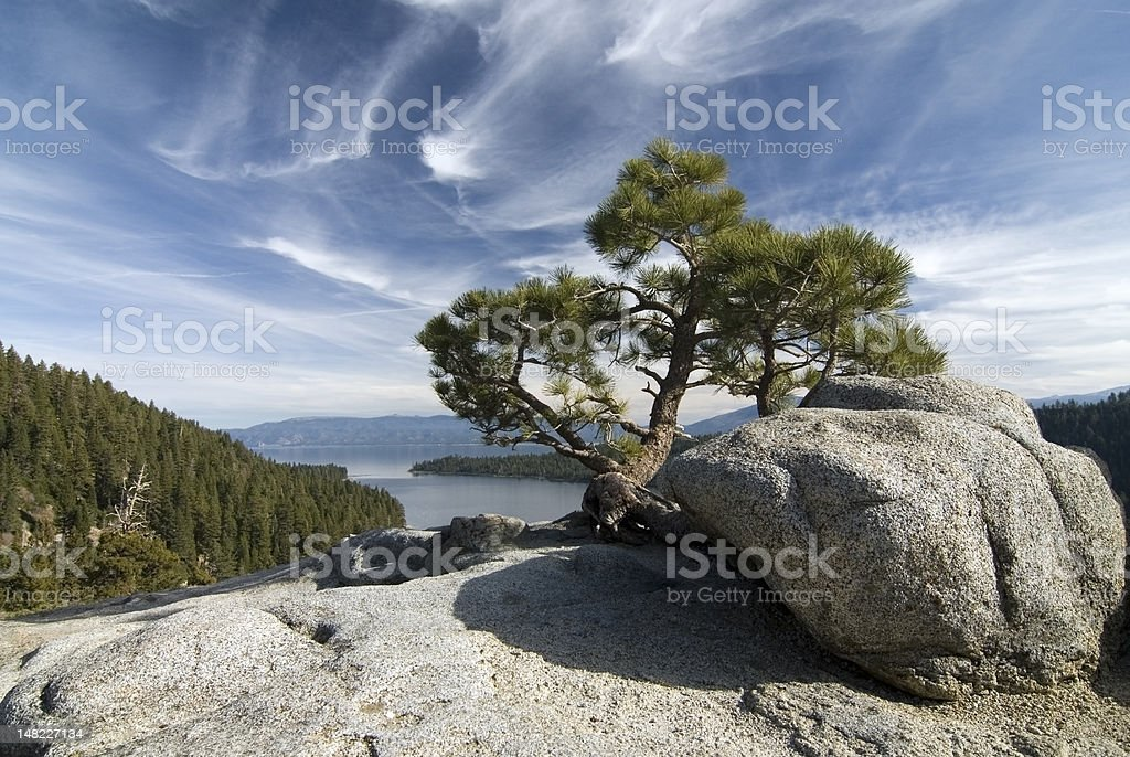Emerald bay landscape stock photo