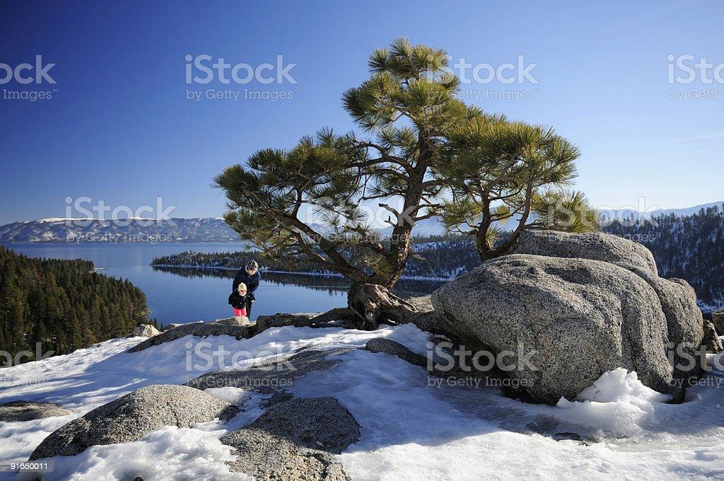 Emerald Bay viewpoint, Lake Tahoe royalty-free stock photo
