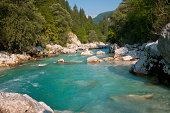 Emerald Beauty Soca River Slovenia Europe
