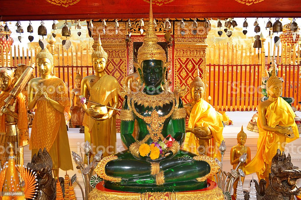Emerald Buddha in Doi Suthep, Thailand stock photo