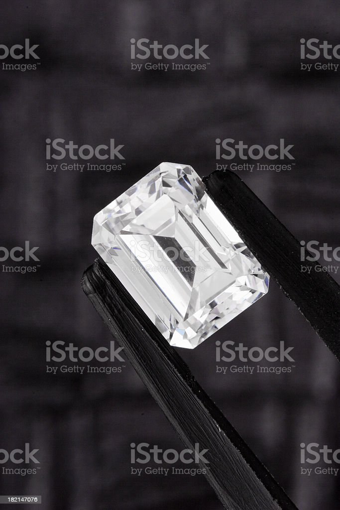 Emerald Cut Diamond royalty-free stock photo