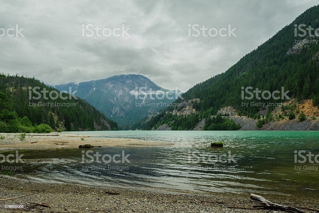 emerald Diablo Lake stock photo