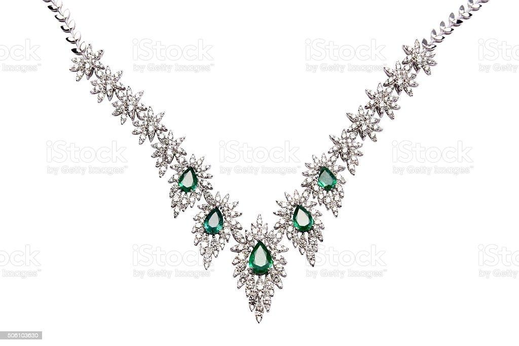 Emerald jewelry stock photo