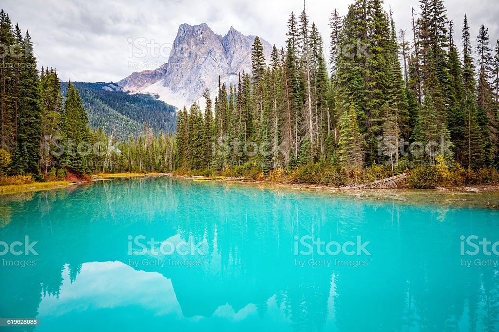 Emerald Lake, Canada. stock photo