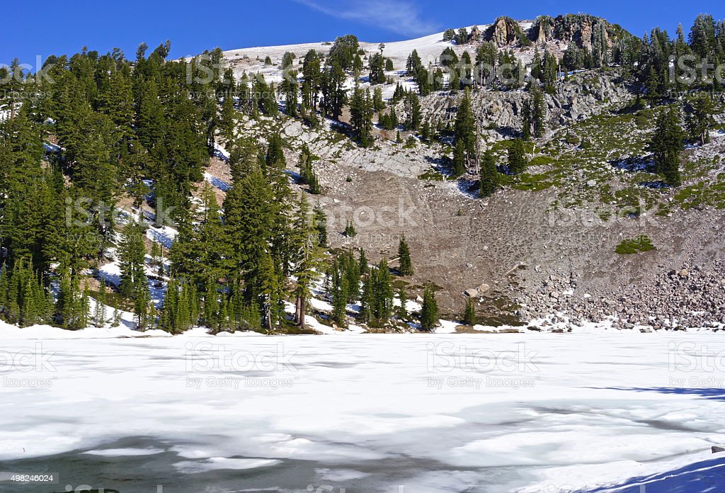 Emerald Lake Ice stock photo