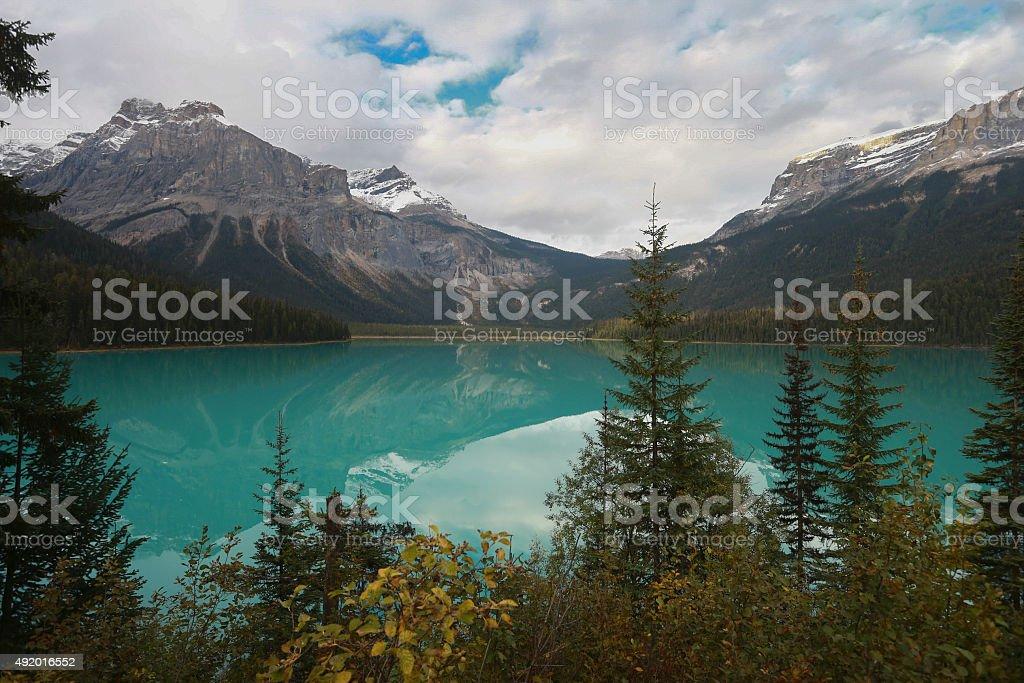 Emerald Lake in Yoho National Park, British Columbia, Canada stock photo