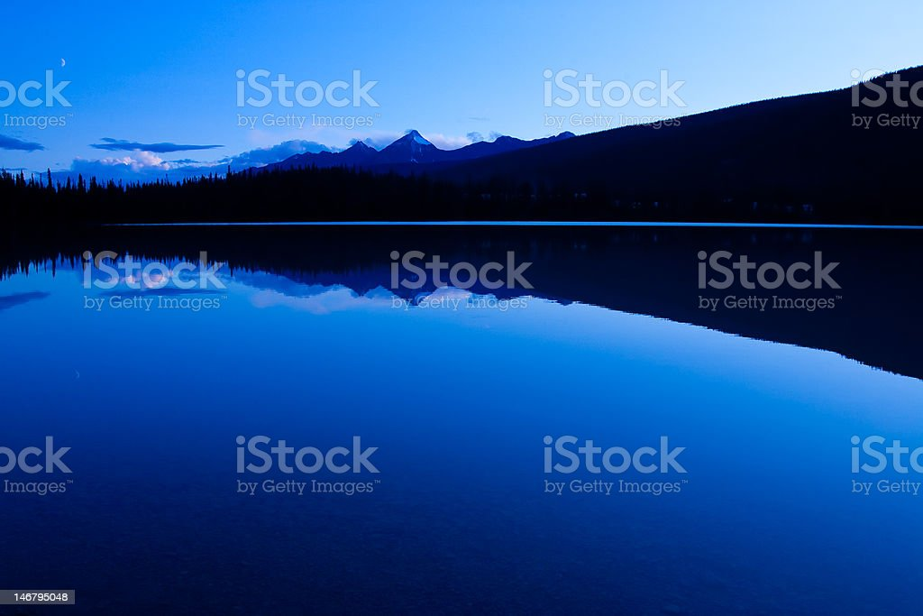 Emerald Lake in Yoho National Park stock photo