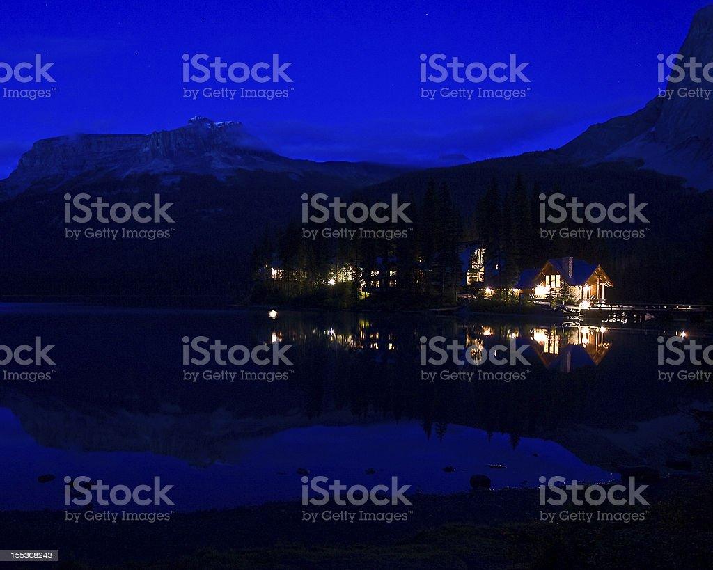Emerald Lake Lodge stock photo