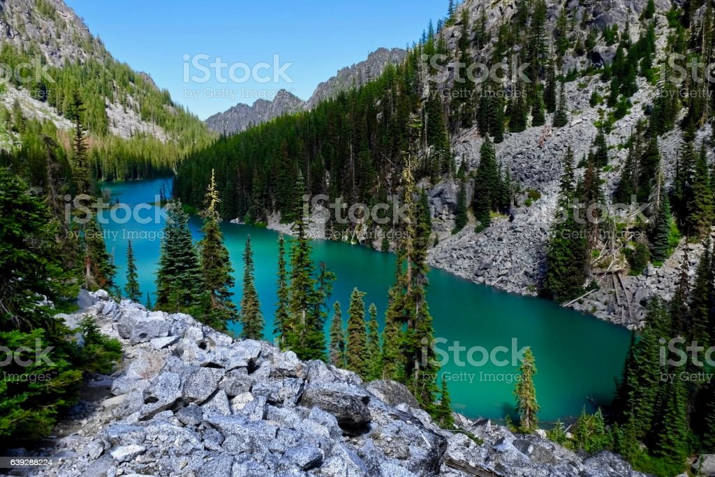 Emerald lake. stock photo