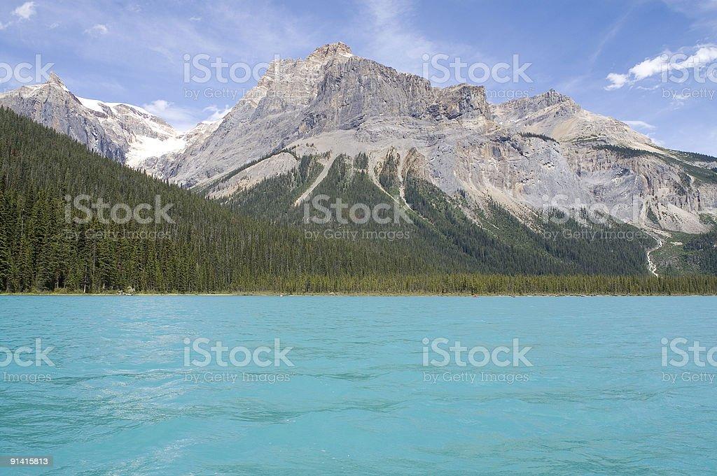 Emerald lake stock photo