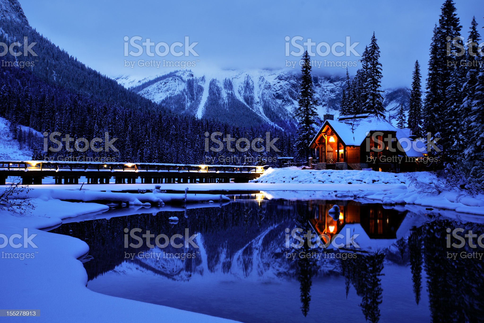 Emerald Lake Resort Entrance royalty-free stock photo
