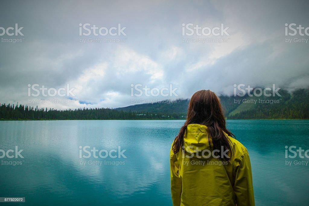 Emerald Lake Yellow stock photo
