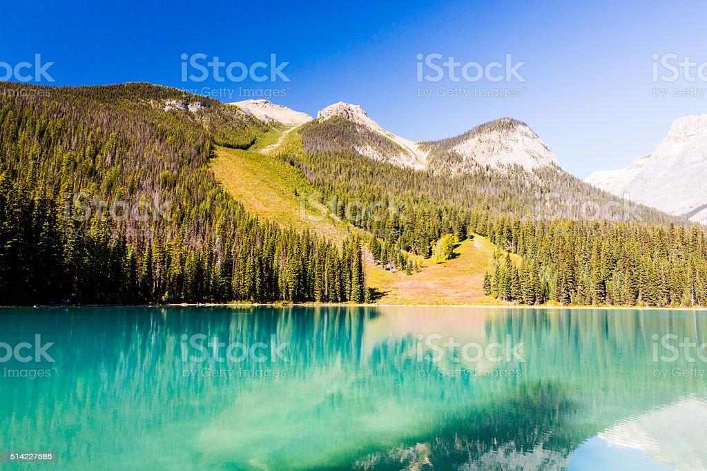 Emerald Lake, Yoho National Park, British Columbia, Canada stock photo