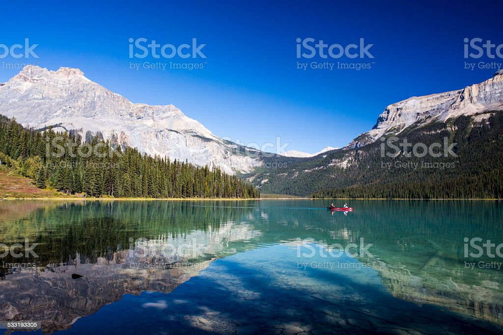 Emerald Lake, Yoho National Park, British Columbia, Canada stock photo