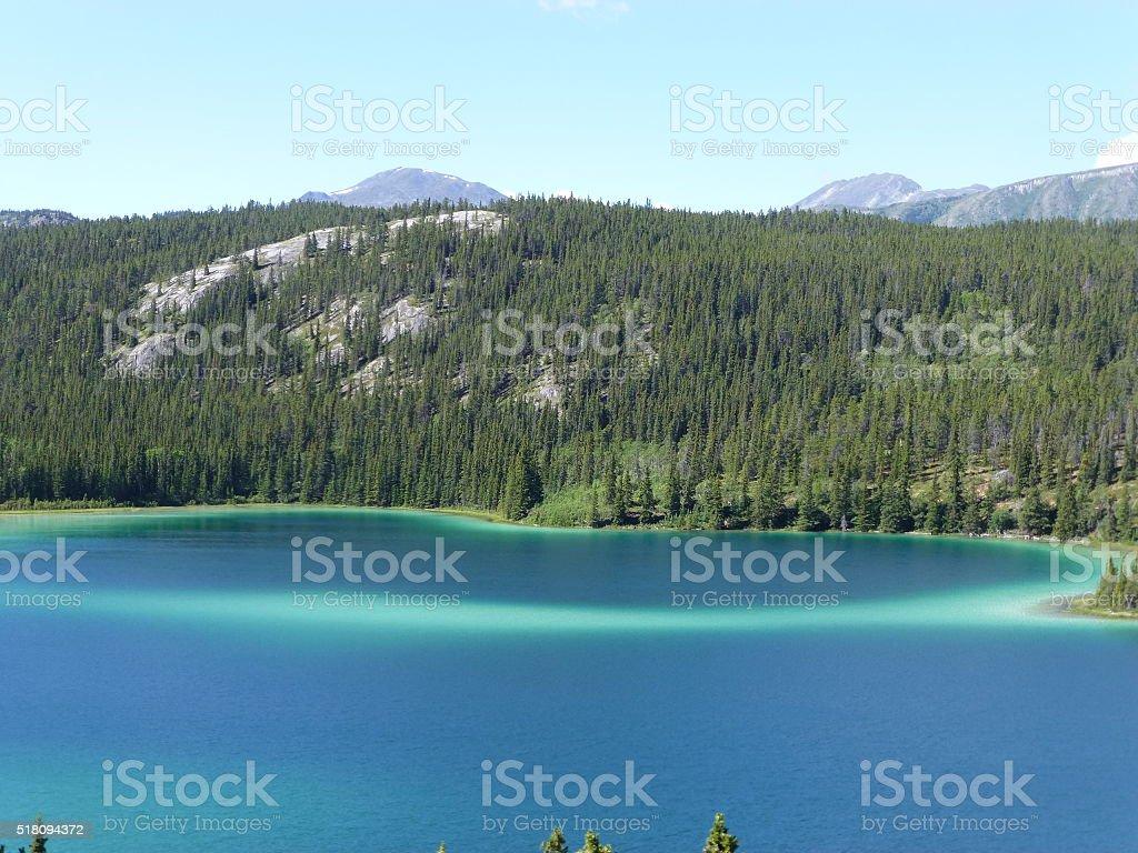 Emerald Lake, Yukon stock photo