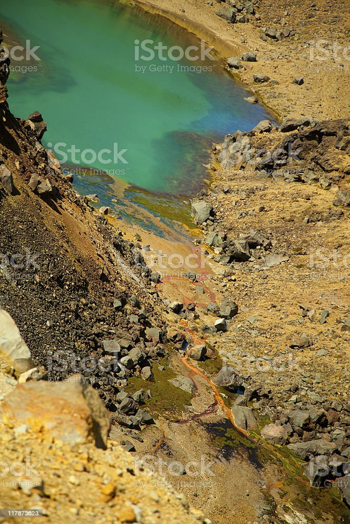 Emerald Lakes royalty-free stock photo