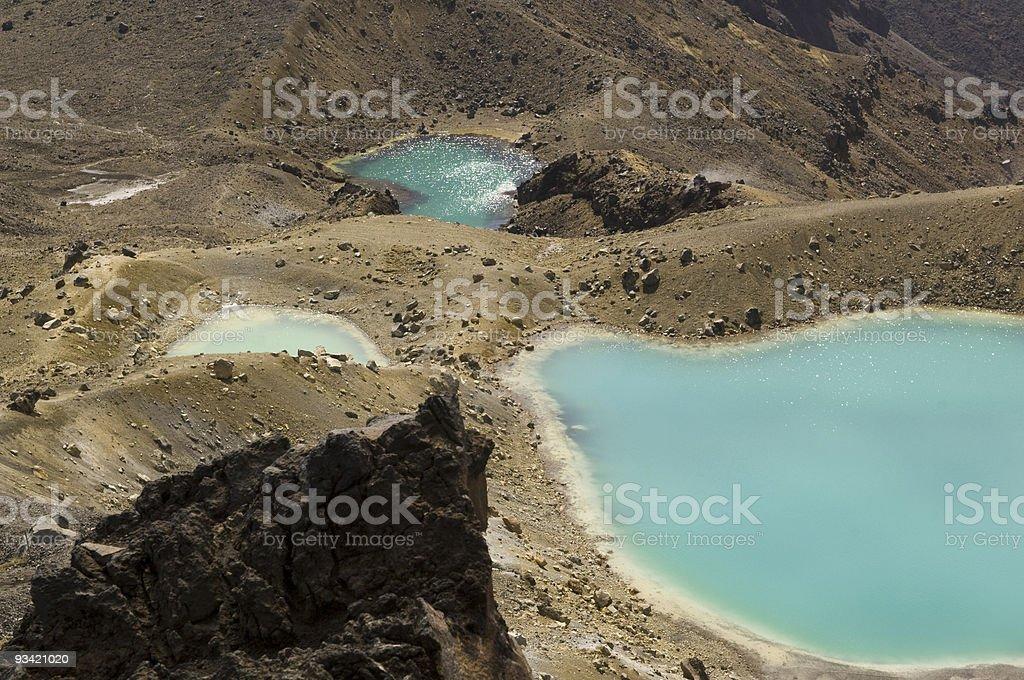 Emerald Lakes View III stock photo