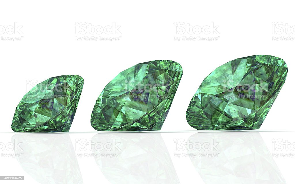 emerald (high resolution 3D image) royalty-free stock photo