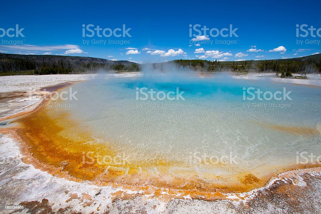 Emerald pool in the black sand basin, yellowstone royalty-free stock photo