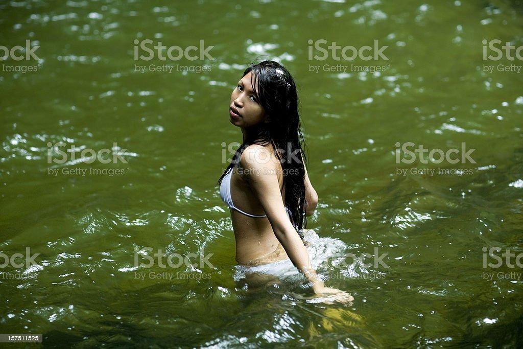 Emerald Pool Lagoon in Dominica royalty-free stock photo