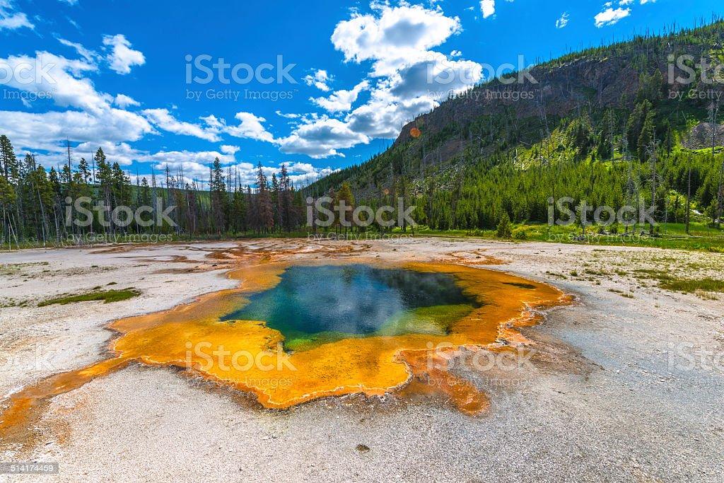 Emerald Pool Yellowstone stock photo
