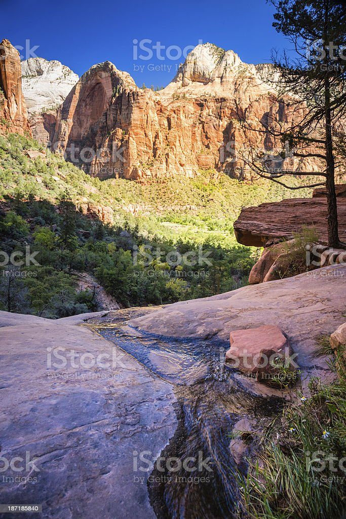 Emerald Pools, Zion Canyon royalty-free stock photo