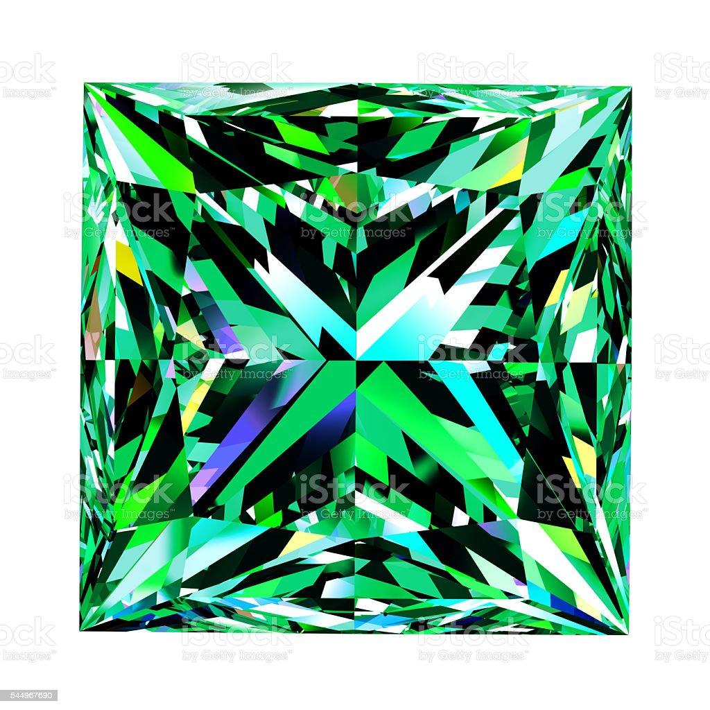 Emerald Princess Over White Background stock photo